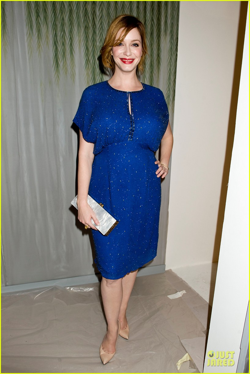 christina hendricks louise roe jenny packham fashion show 072949793