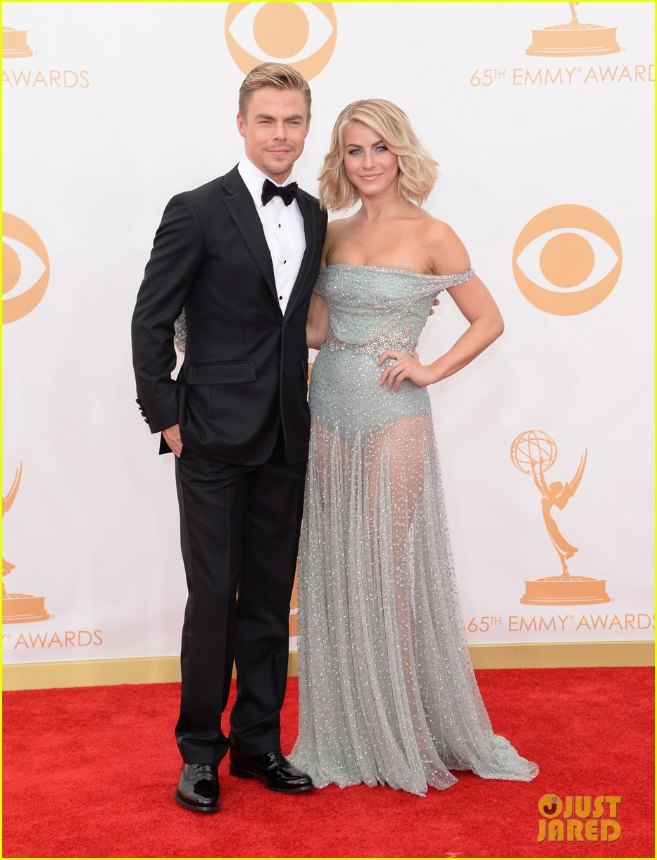 julianne hough emmys 2013 red carpet with brother derek 042958183
