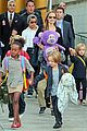 angelina jolie arrives in syd with all six kids 07