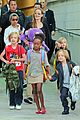angelina jolie arrives in syd with all six kids 15