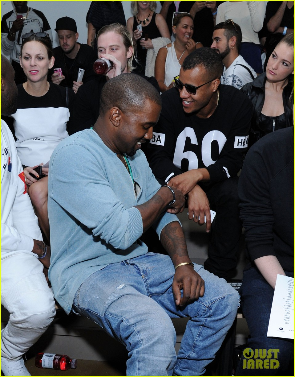 kanye west front row at hood by air fashion show 032947143