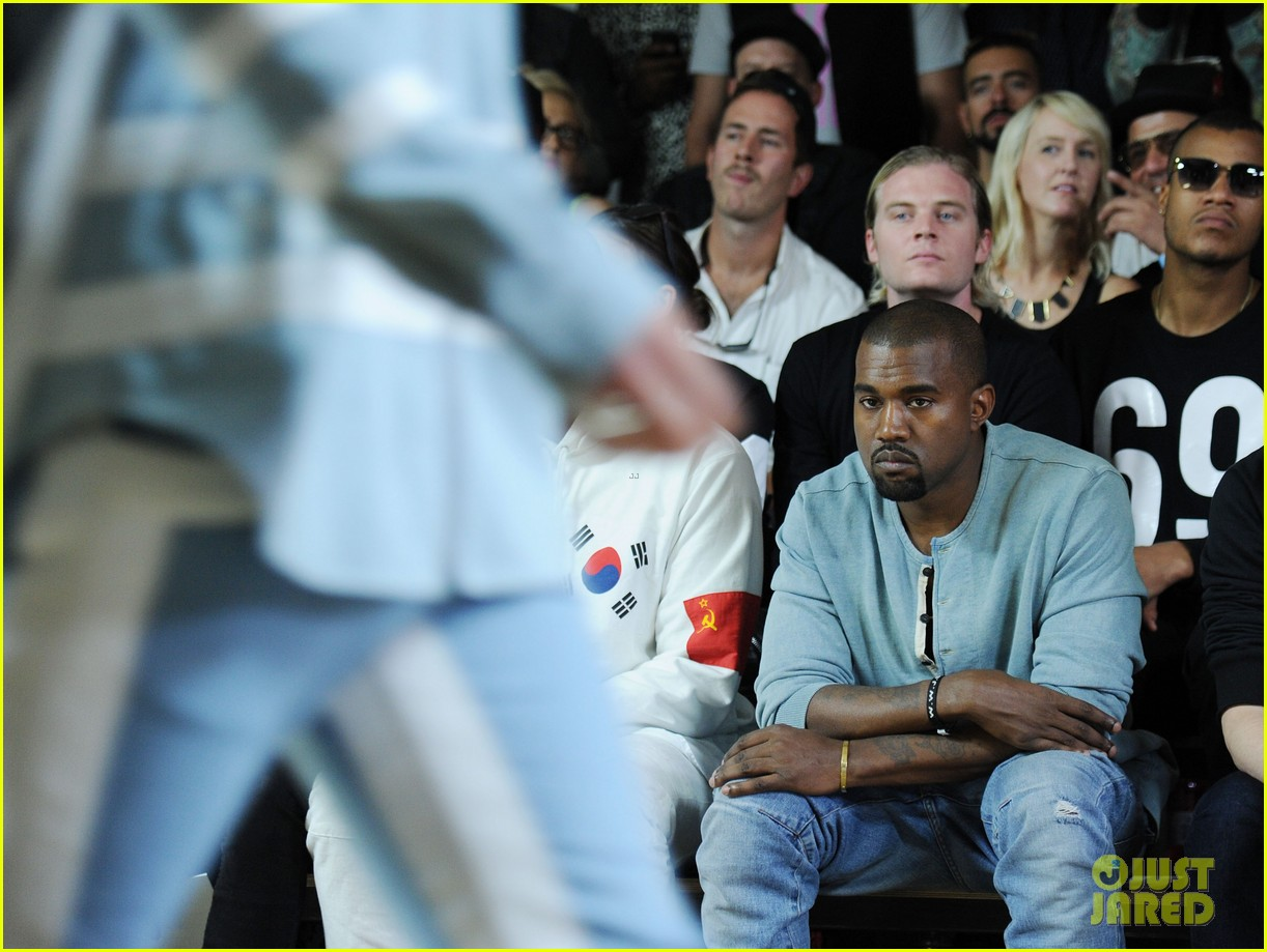 kanye west front row at hood by air fashion show 072947147