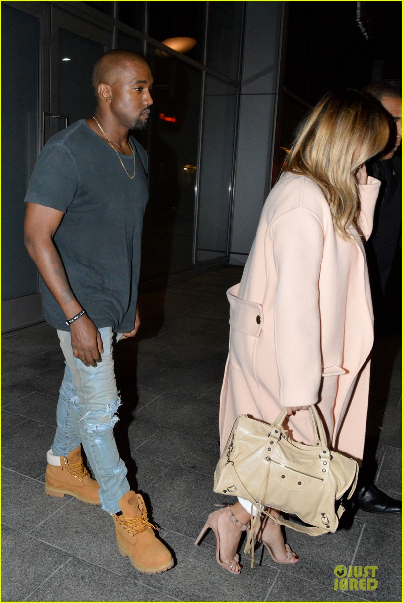 kim kardashian sports blond hair for dinner with kanye west 08