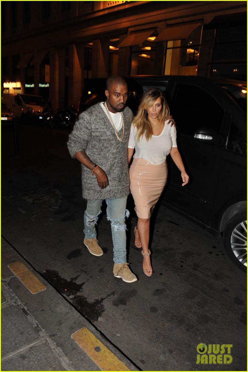 kim kardashian kanye west parisian dinner date 03