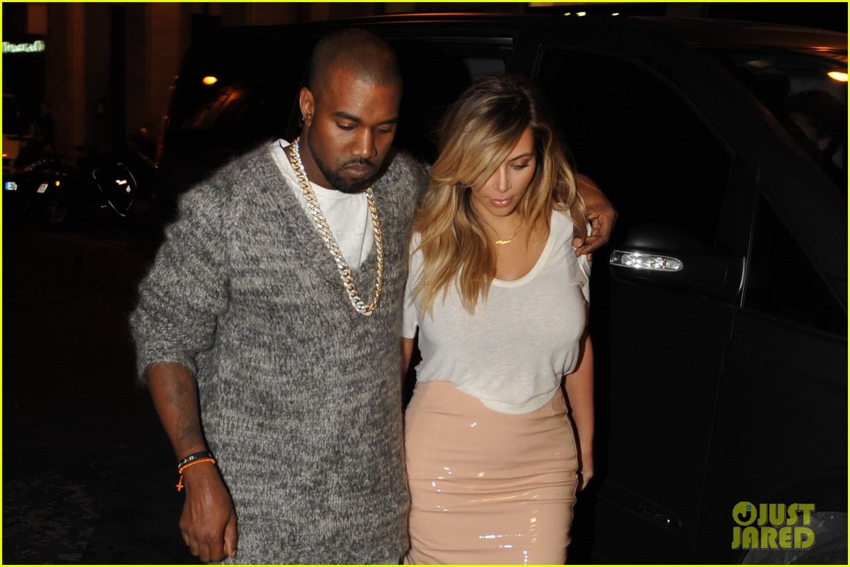 kim kardashian kanye west parisian dinner date 14