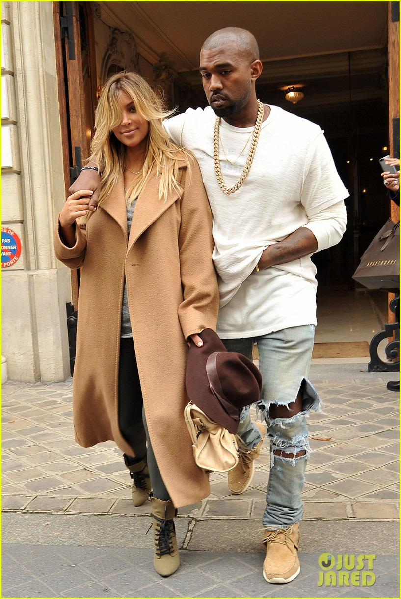 kim kardashian kanye west step out together in paris 172961539