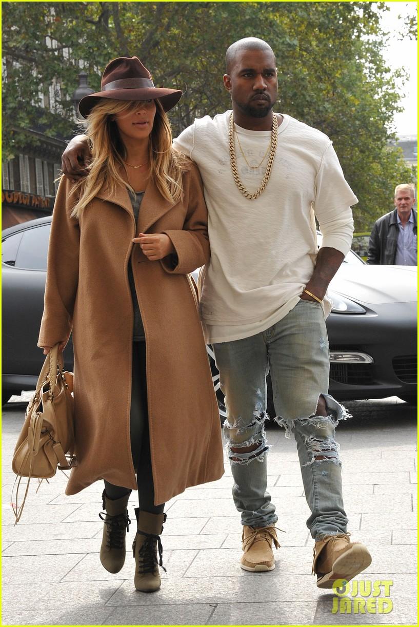kim kardashian kanye west step out together in paris 24