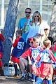 heidi klum tends to henry bloody nose soccer game 34