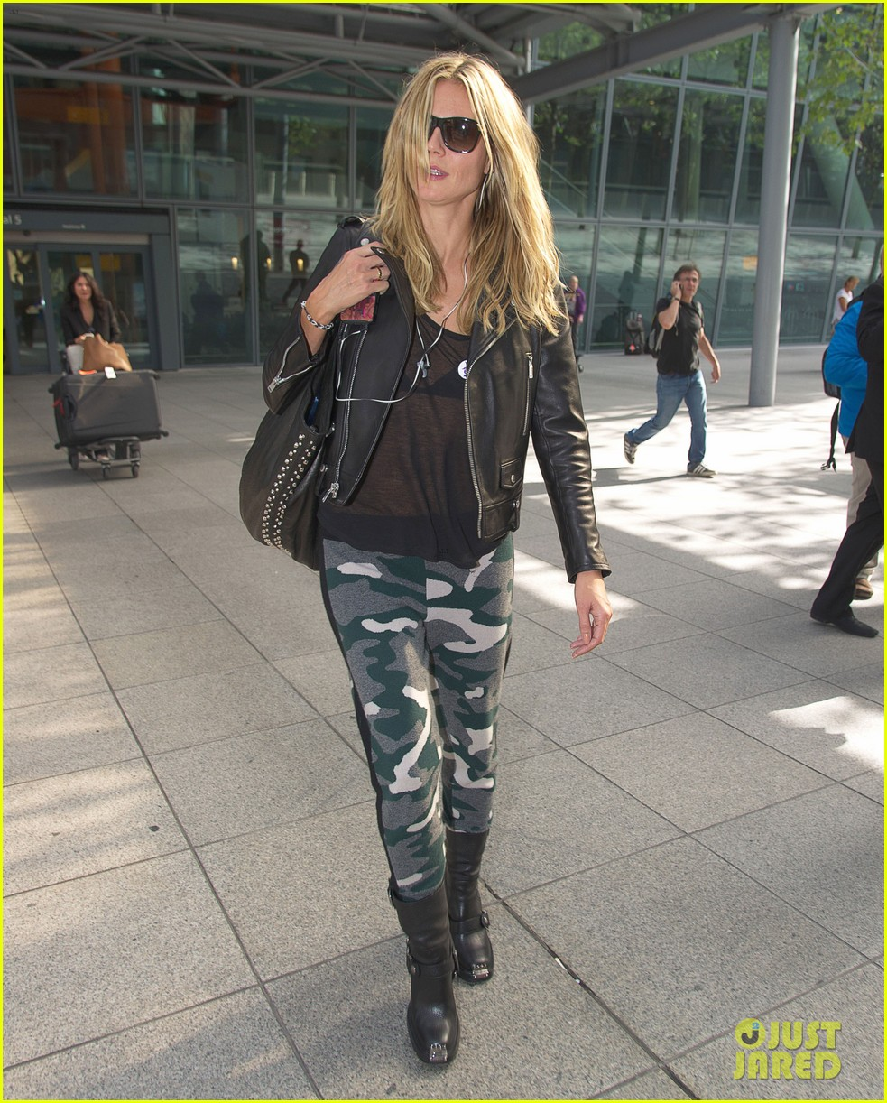 heidi klum sheer heathrow airport arrival 102959734