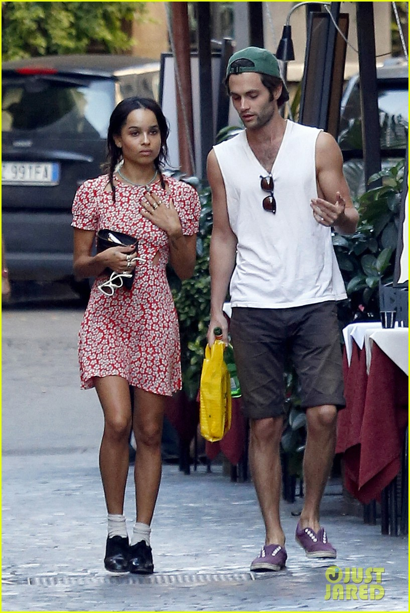 zoe kravitz penn badgley back together in rome 062958555