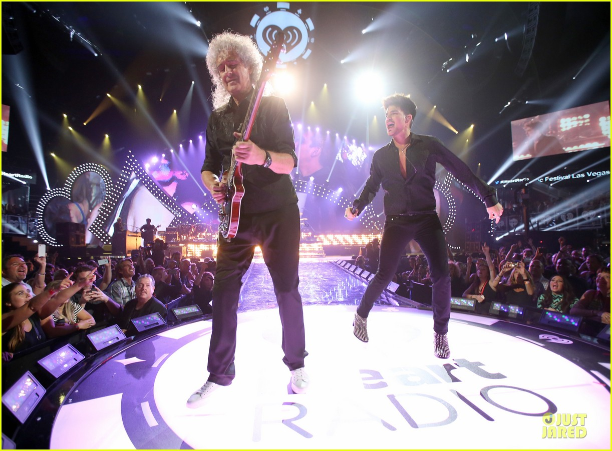 adam lambert iheartradio music festival with queen 152956588