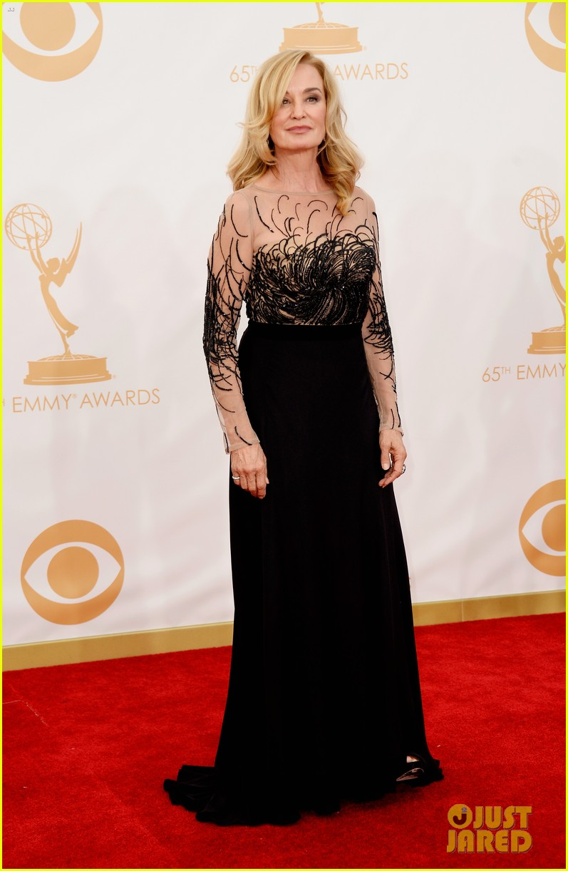 jessica lange dylan mcdermott emmys 2013 red carpet 032958314