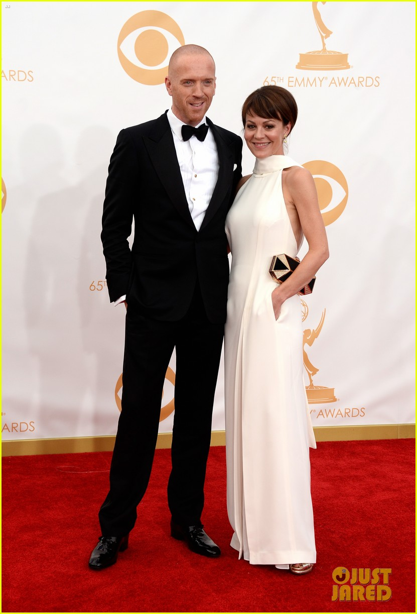 damian lewis emmys 2013 red carpet with helen mccrory 042958346