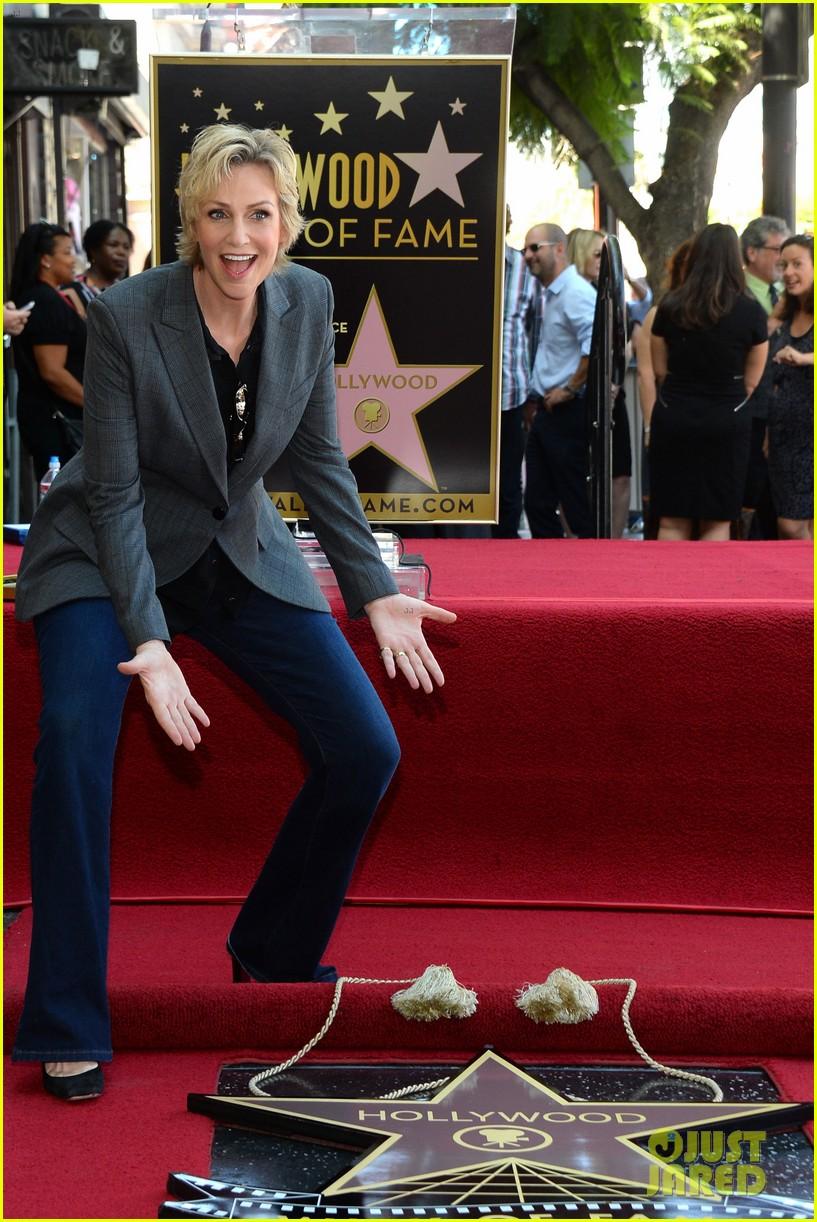 jane lynch receives star on hollywood walk of fame 062943840