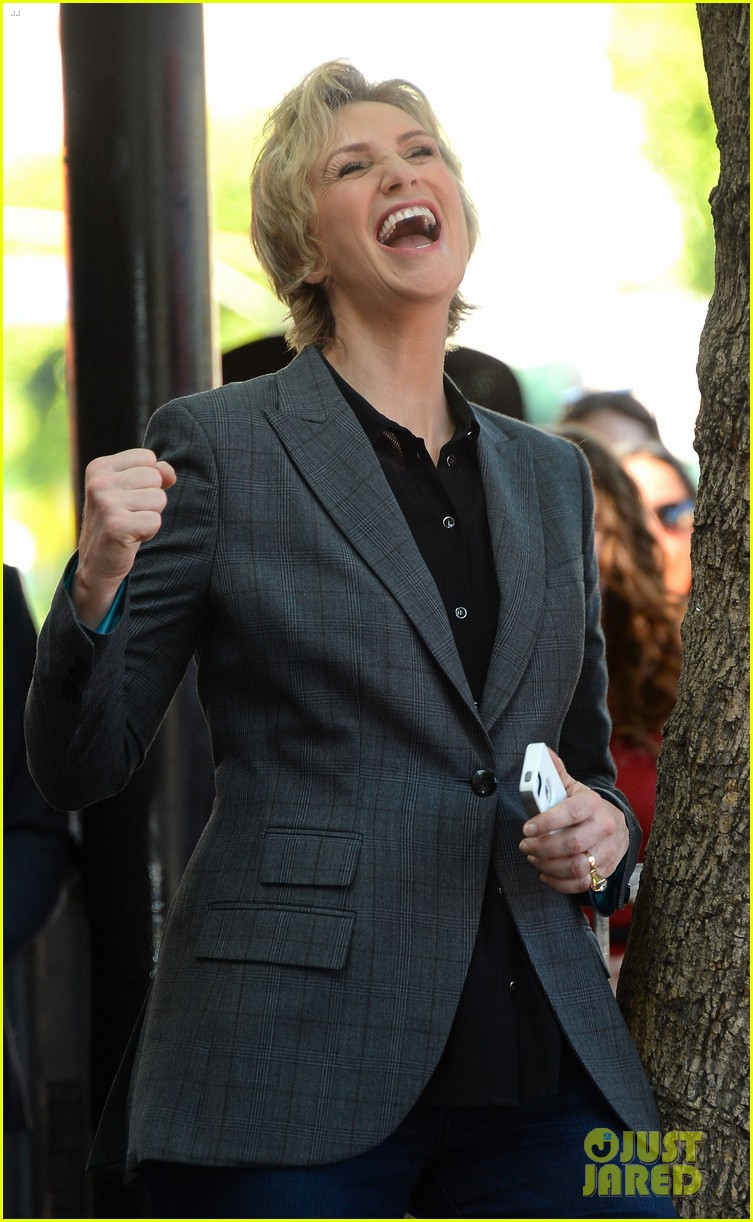 jane lynch receives star on hollywood walk of fame 10
