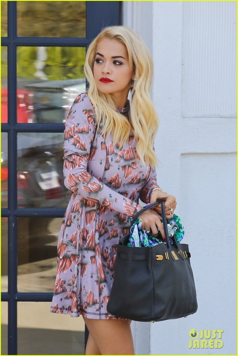 rita ora visits the salon after studio time with calvin harris 13