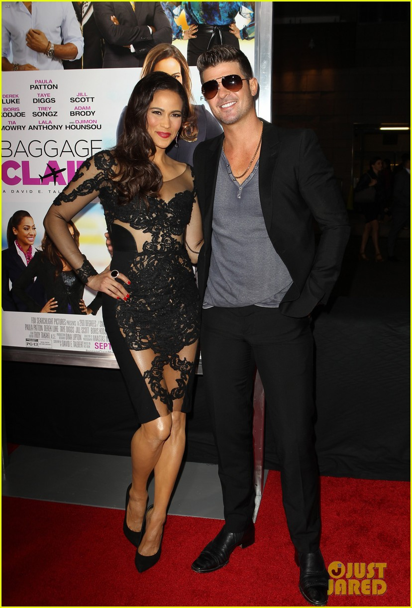 paula patton baggage claim premiere with robin thicke 14