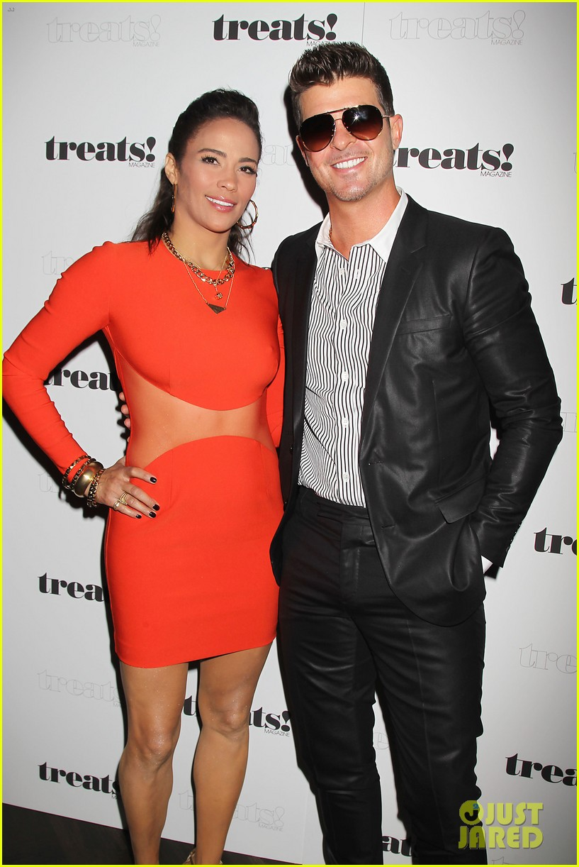 paula patton kisses robin thicke at his album release party 132944330