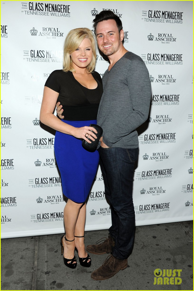 zachary quinto megan hilty glass menagerie opening night 01