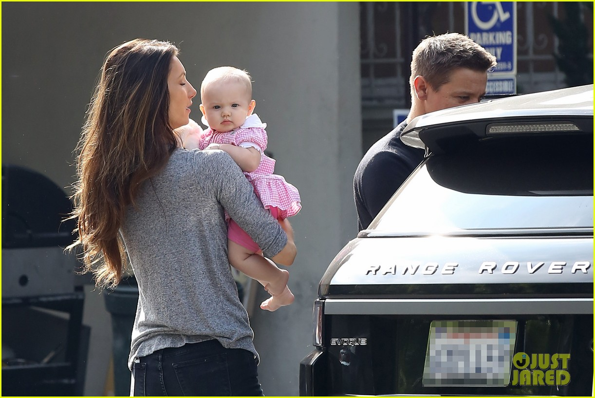 jeremy renner debuts adorable baby ava 212955504