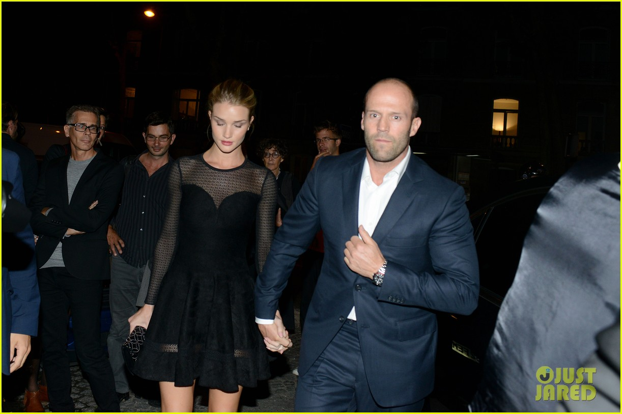 jason statham rosie huntington whiteley azzedine alaia paris fashion show 08