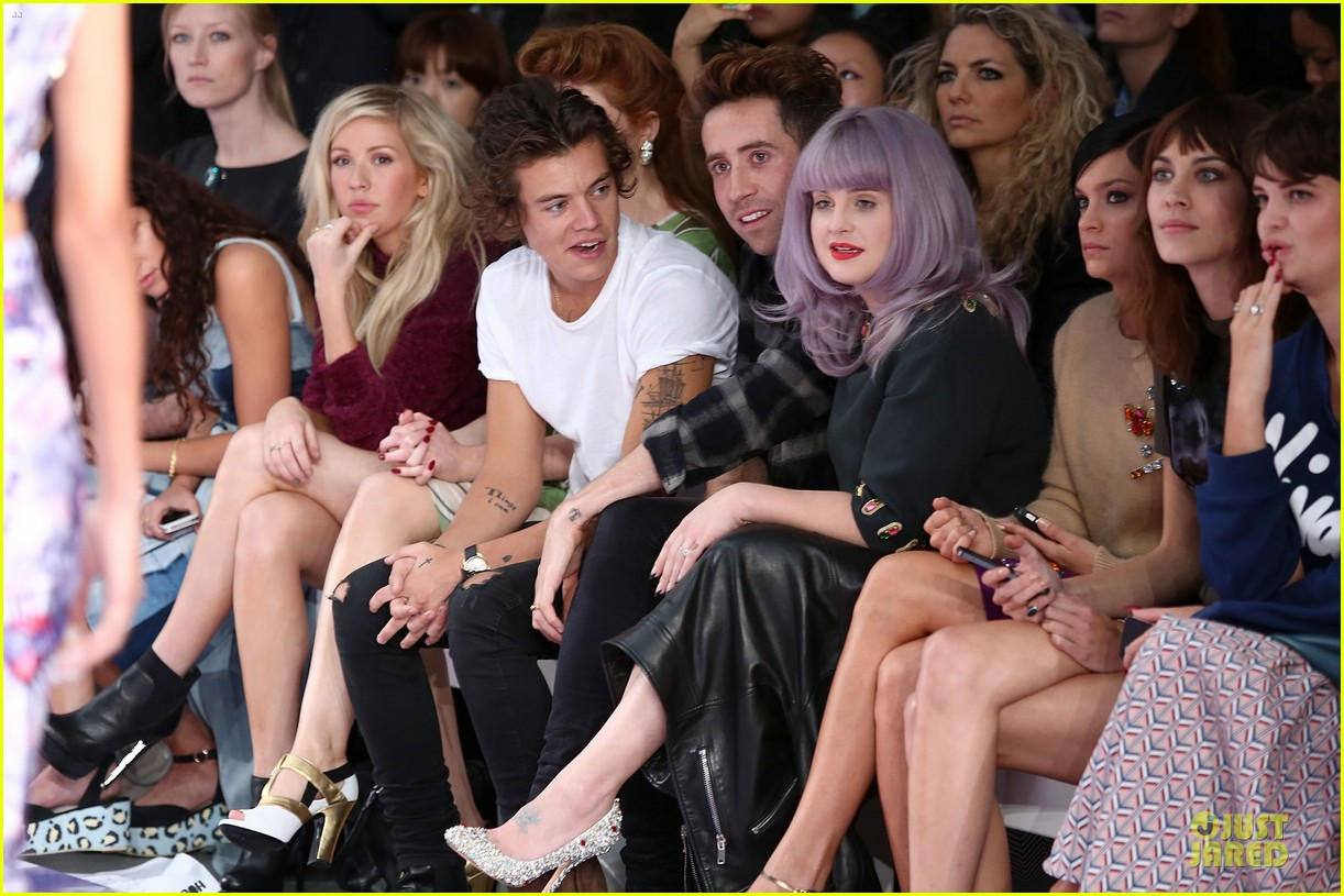 harry styles kelly osbourne house of holland fashion show 092952380