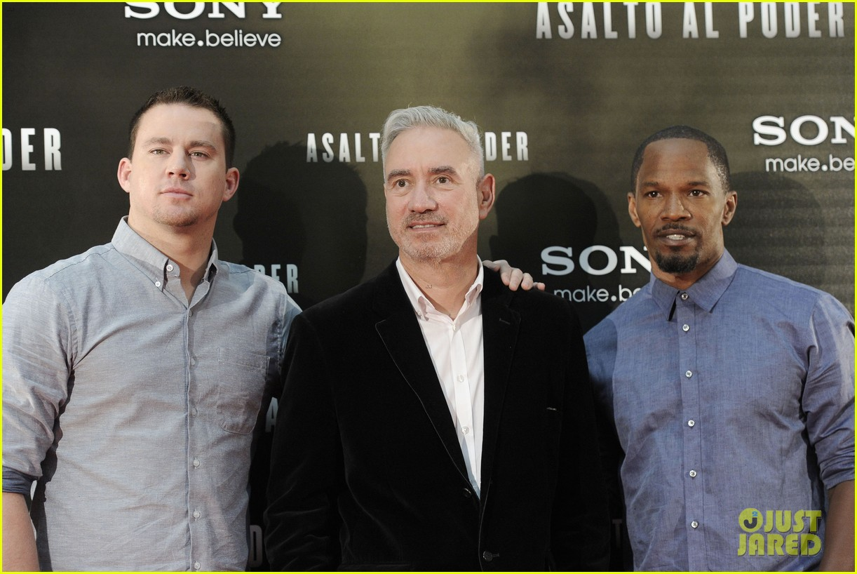 channing tatum jamie foxx white house down madrid photo call 182943491