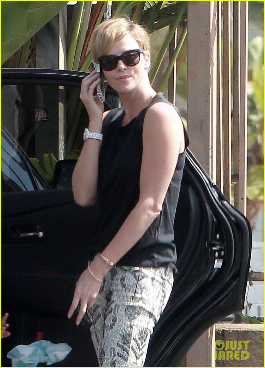 charlize theron grabs coffee with her little man jackson 18