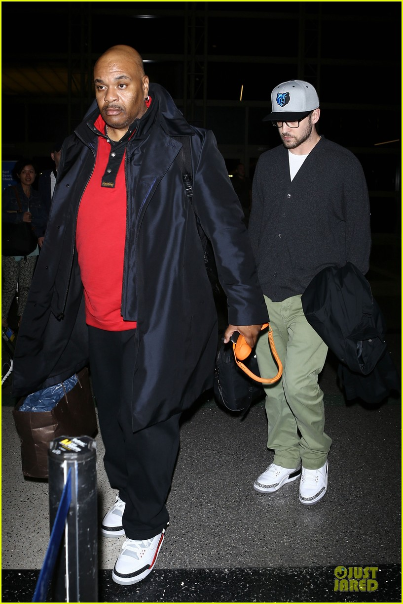 justin timberlake supports memphis grizzlies at lax airport 152961467