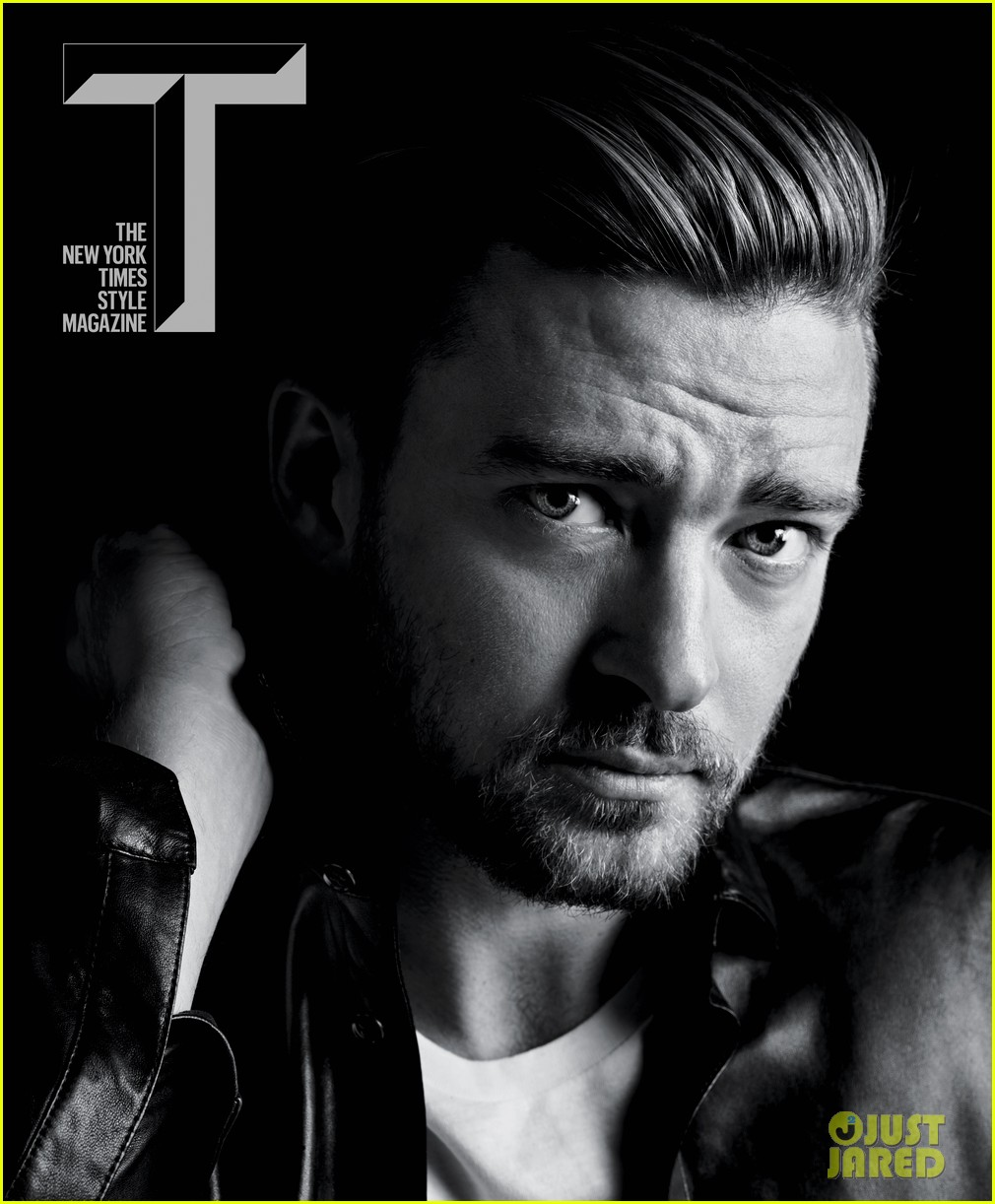 justin timberlake covers 't the new york times style magazine' photo