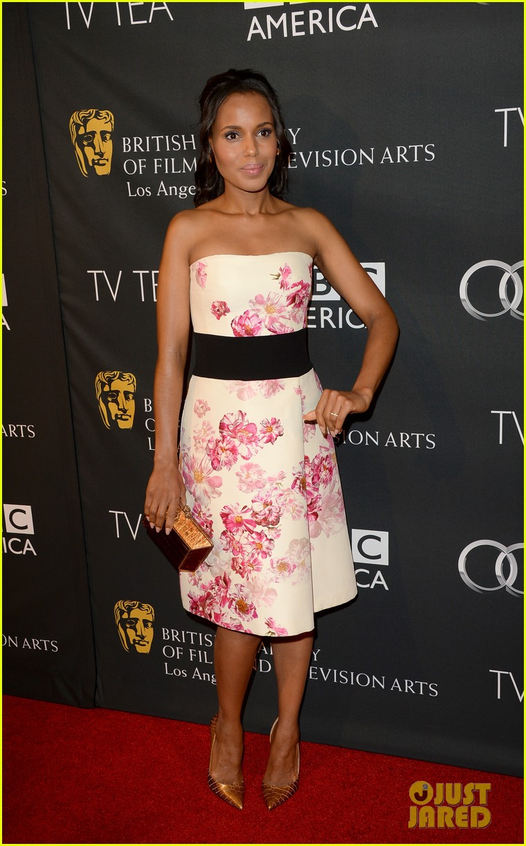 kerry washington michelle dockery bafta la tv tea party 072956990