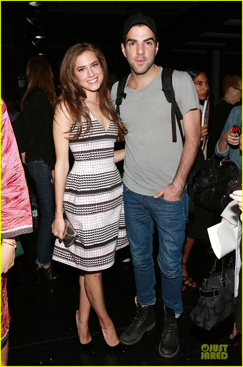 allison williams zachary quinto prabal gurung fashion show 01