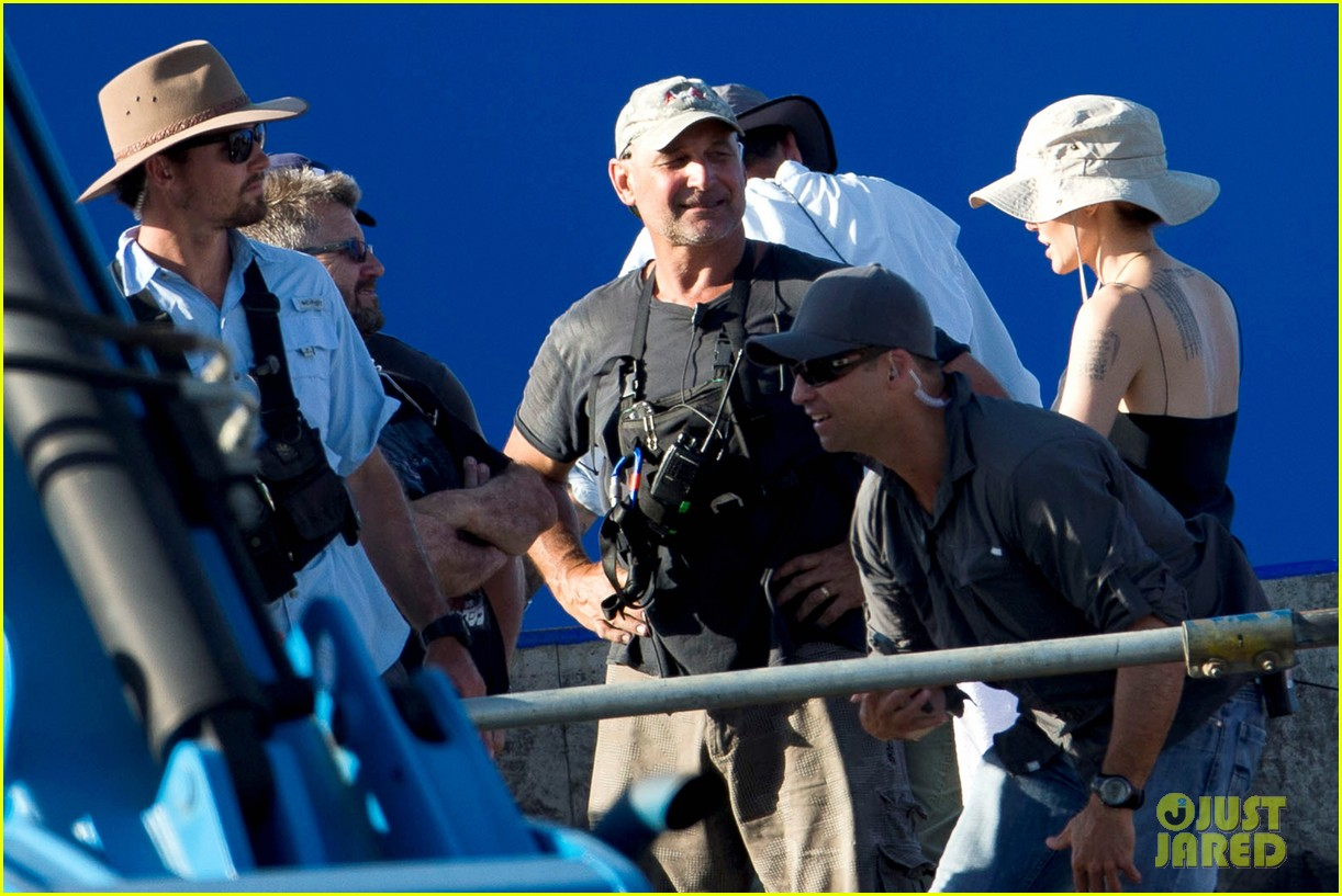 angelina jolie works hard on unbroken set 12