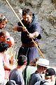 christian bale rocks beard wears tunic for exodus 15
