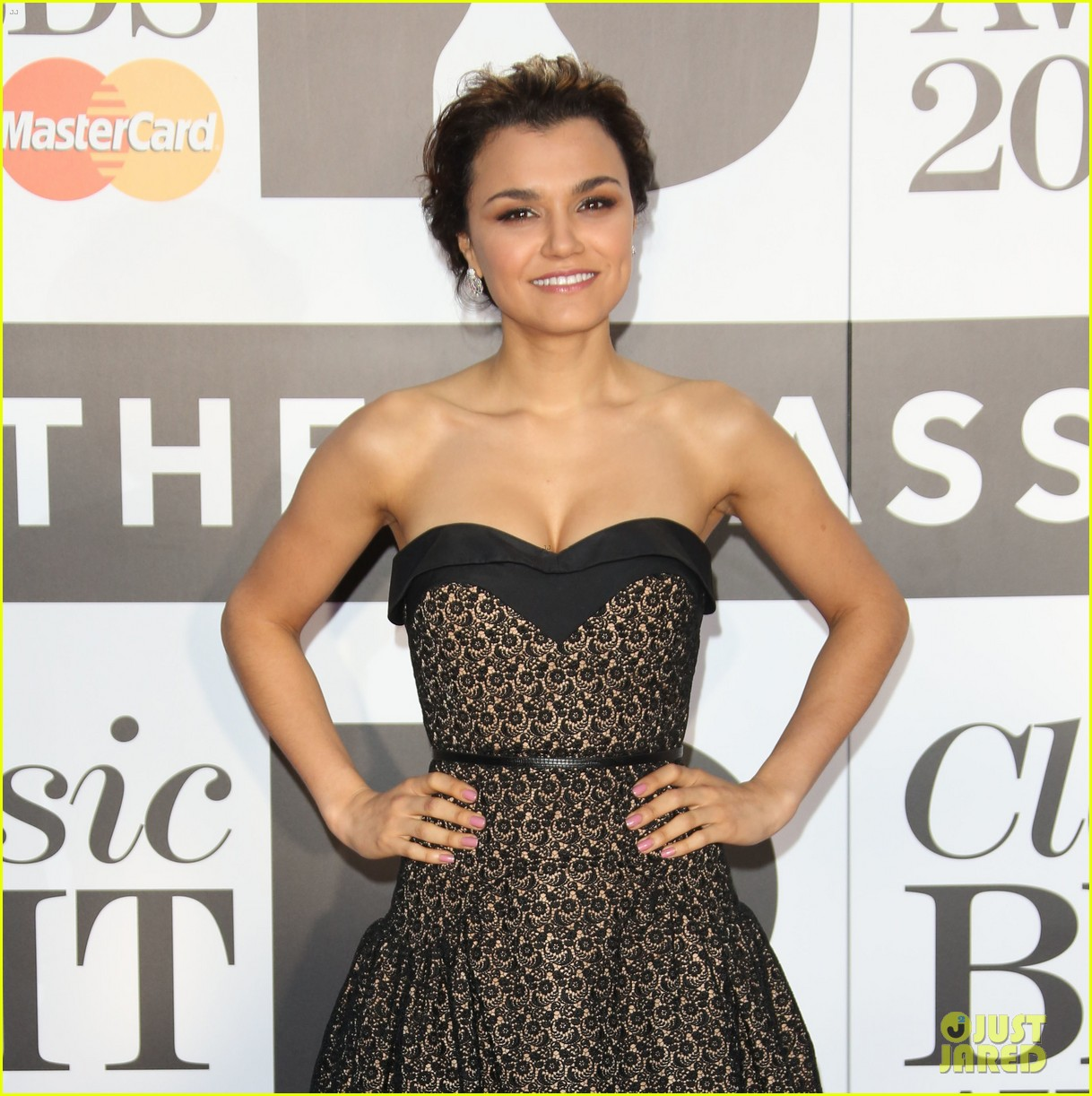 samantha barks celebrates birthday at classic brit awards 102964767