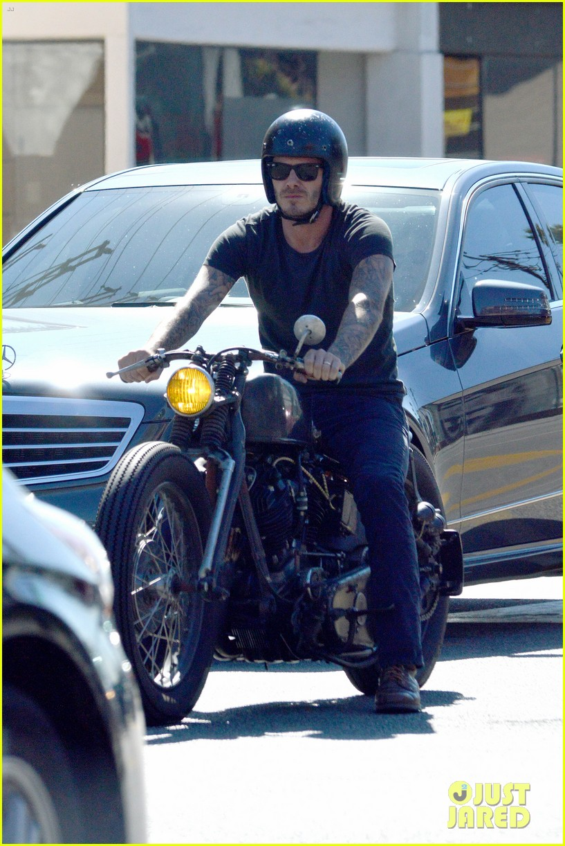 david beckham rides motorcycle in los angeles all week 082975308