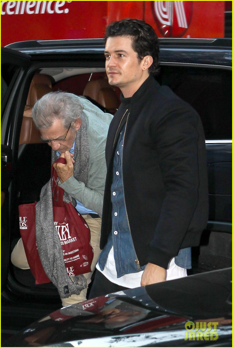 orlando bloom ian mckellan promote hobbit on today 02