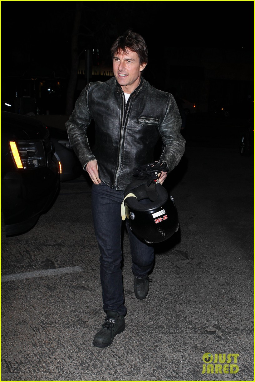 tom cruise rides motorcycle for lucas on sunset dinner outing 22