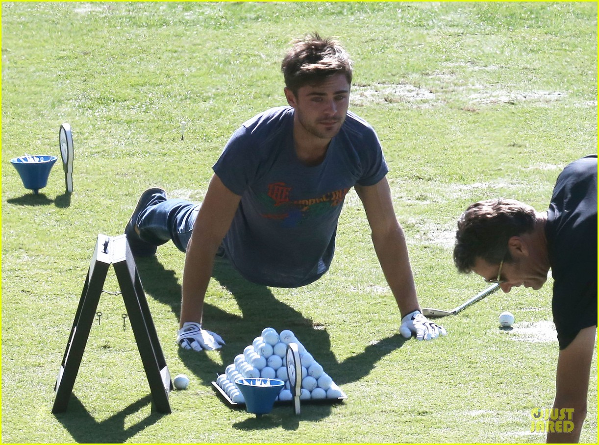zac efron golfs for 26th birthday celebration 02