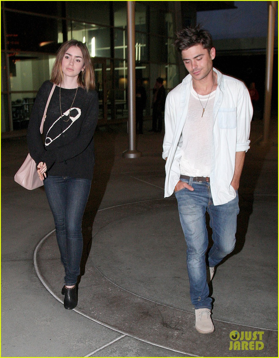 zac efron lily collins movie night out 09