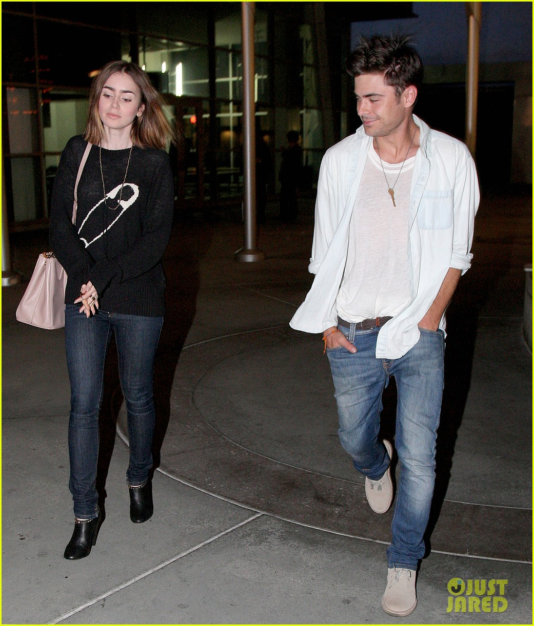 zac efron lily collins movie night out 21