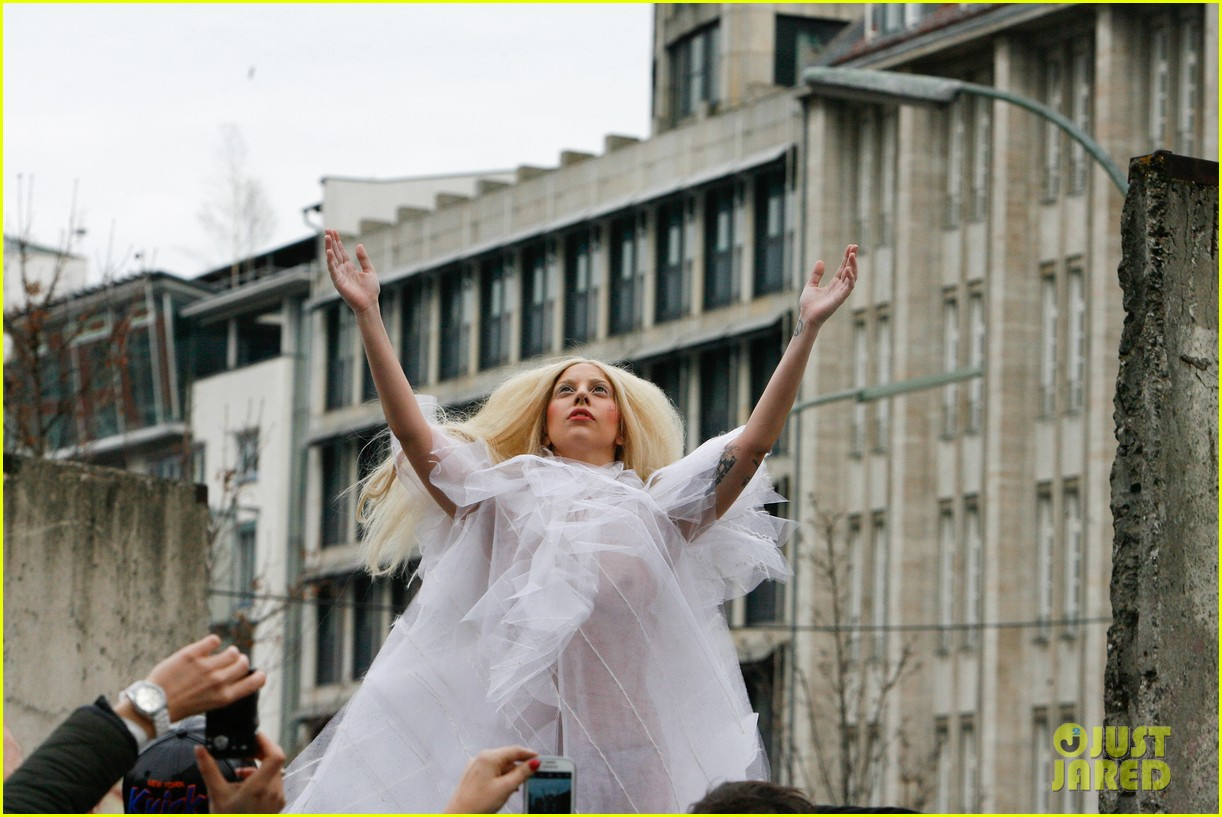 lady gaga naked under sheer cover up at berlin wall 022979052