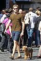 armie hammer man from uncle break with pet pooch 01