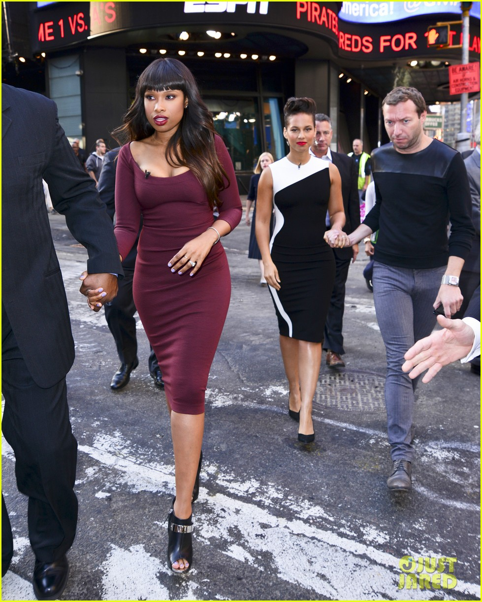 jennifer hudson alicia keys mister pete nyc screening 08