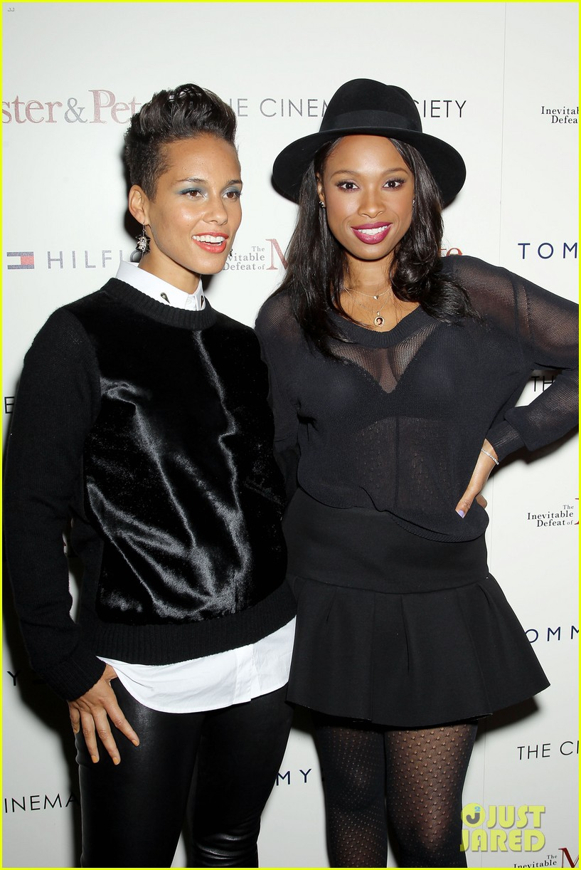 jennifer hudson alicia keys mister pete nyc screening 252964845