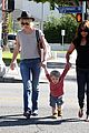 january jones hangs with smiley xander after babys class 03