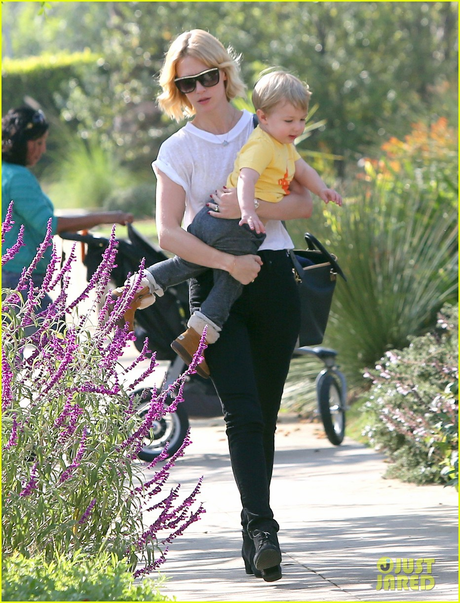 january jones gets in quality time with her son xander 12