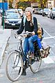 keri russel laughs with river after bike ride 13
