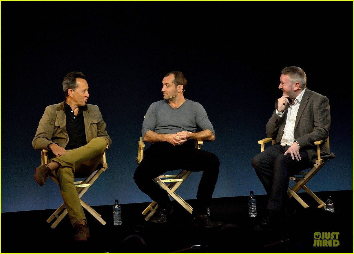 jude law richard e grant dom hemingway promo at apple 05