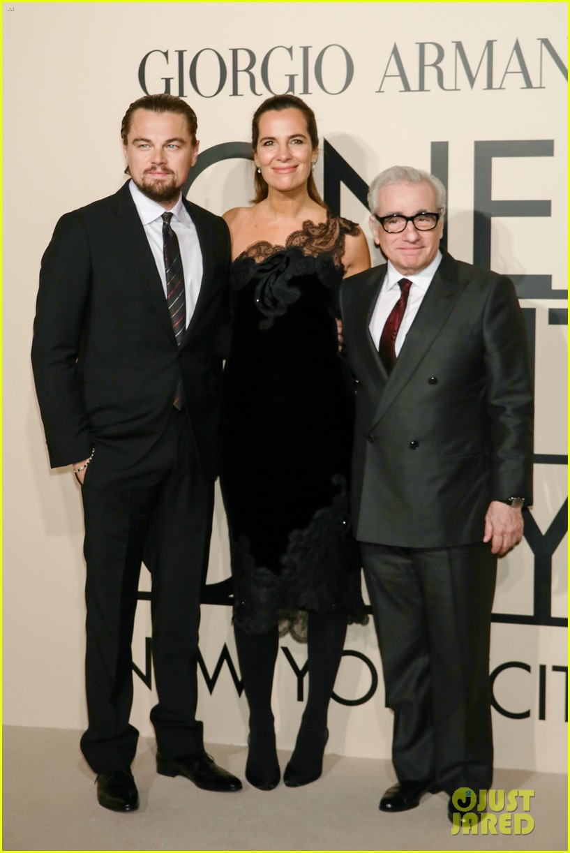 leonardo dicaprio hilary swank georgio armani one night only nyc 132978836